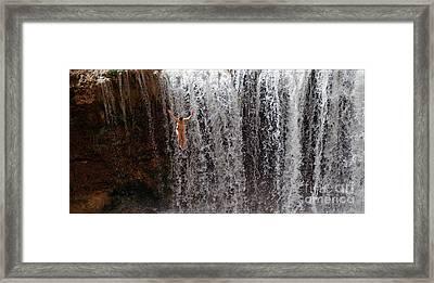 Rock Falls Framed Print