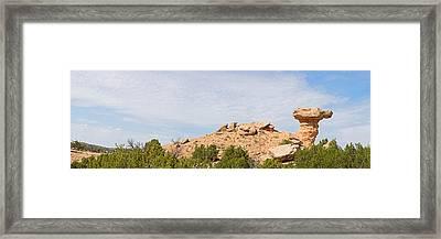 Rock Formation On A Landscape, Camel Framed Print