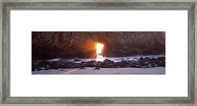 Rock Formation On The Beach, Pfeiffer Framed Print by Panoramic Images