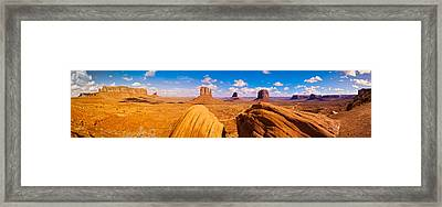 Rock Formations At Monument Valley Framed Print by Panoramic Images