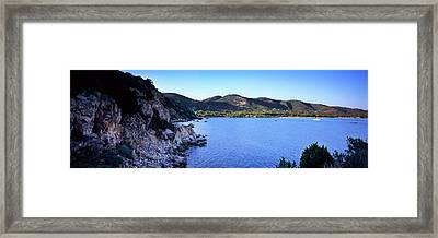 Rock Formations At Seaside, Golfo Framed Print