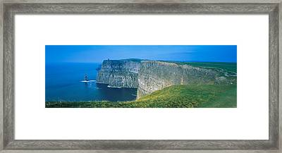 Rock Formations At The Coast, Cliffs Of Framed Print