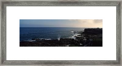 Rock Formations At The Coast, Punta Framed Print
