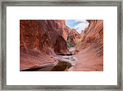 Rock Formations At Water Canyon Trail Framed Print