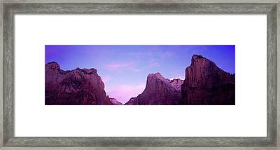 Rock Formations, Court Of Patriarchs Framed Print