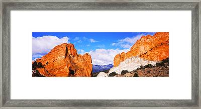 Rock Formations, Garden Of The Gods Framed Print by Panoramic Images