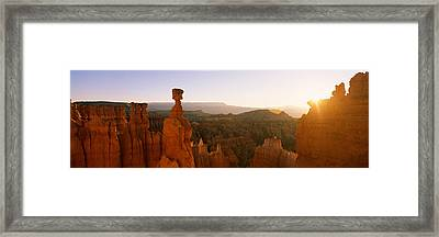 Rock Formations In A Canyon, Thors Framed Print
