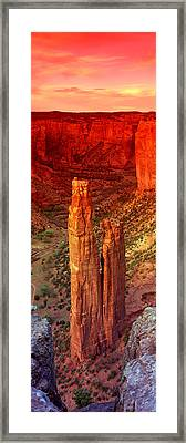 Rock Formations In A Desert, Spider Framed Print by Panoramic Images