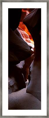 Rock Formations In A Slot Canyon, Lower Framed Print