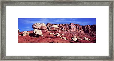 Rock Formations In Capitol Reef Framed Print by Panoramic Images