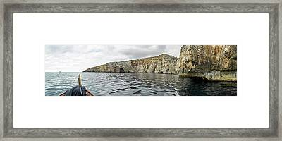 Rock Formations In Mediterranean Sea Framed Print by Panoramic Images