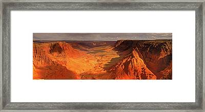 Rock Formations In Paria Framed Print
