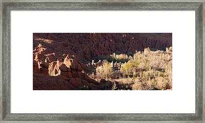 Rock Formations In The Dades Valley Framed Print by Panoramic Images