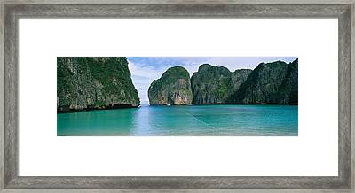 Rock Formations In The Ocean, Mahya Framed Print by Panoramic Images