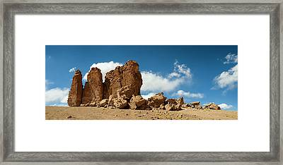 Rock Formations In The Pacana Guardians Framed Print by Panoramic Images