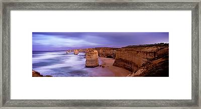 Rock Formations In The Sea, Twelve Framed Print by Panoramic Images