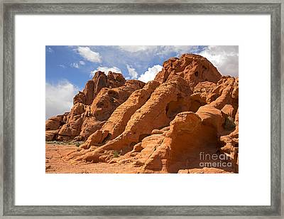 Rock Formations In The Valley Of Fire Framed Print by Jane Rix