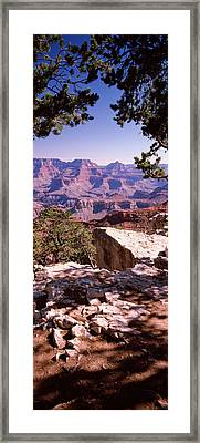 Rock Formations, Mather Point, South Framed Print