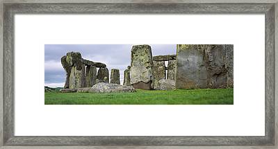 Rock Formations Of Stonehenge Framed Print by Panoramic Images