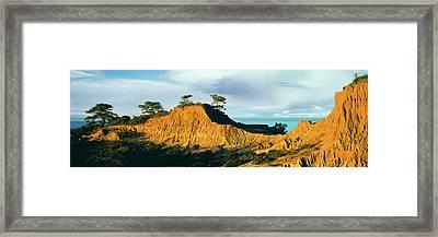 Rock Formations On A Landscape, Broken Framed Print