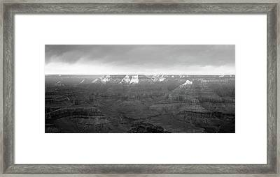Rock Formations On A Landscape, Hopi Framed Print