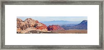 Rock Formations On A Landscape, Red Framed Print by Panoramic Images