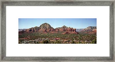 Rock Formations On A Landscape, Sedona Framed Print by Panoramic Images