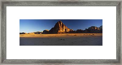 Rock Formations On A Landscape, Seven Framed Print