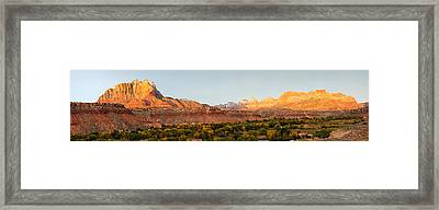 Rock Formations On A Landscape, Zion Framed Print