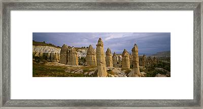 Rock Formations On A Volcanic Framed Print by Panoramic Images
