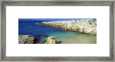 Rock Formations On The Beach, Alaties Framed Print