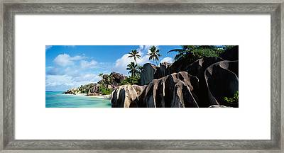 Rock Formations On The Beach, Anse Framed Print by Panoramic Images