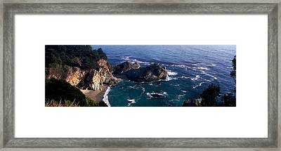 Rock Formations On The Beach, Mcway Framed Print by Panoramic Images