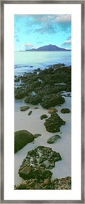 Rock Formations On The Beach, Sea Framed Print by Panoramic Images