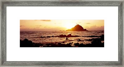 Rock Formations On The Coast, Aloo Framed Print by Panoramic Images