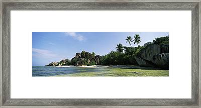 Rock Formations On The Coast, Anse Framed Print
