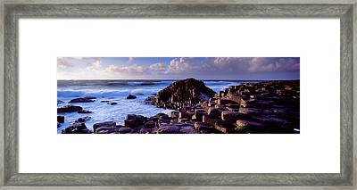 Rock Formations On The Coast, Giants Framed Print by Panoramic Images