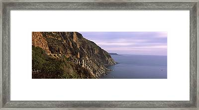 Rock Formations On The Coast, Mt Framed Print