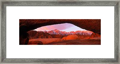 Rock Formations With Mountains Framed Print by Panoramic Images
