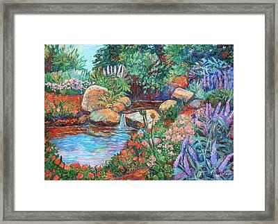 Rock Garden Framed Print by Kendall Kessler