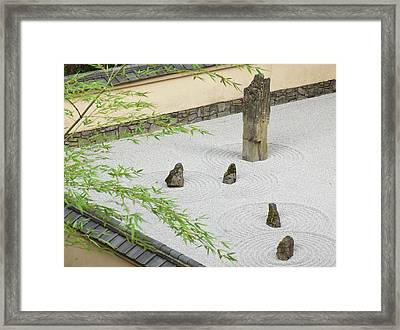 Rock Garden, Portland Japanese Garden Framed Print