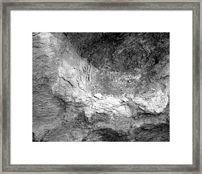 Rock Grain Framed Print