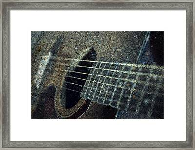Rock Guitar Framed Print by Photographic Arts And Design Studio