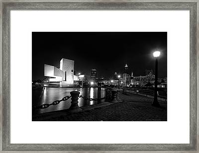 Rock Hall And Great Lakes Science Center Framed Print by Daniel Behm