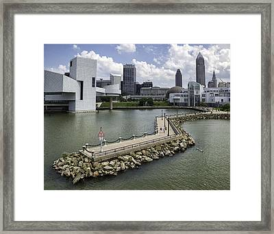 Rock Hall Of Fame On Lake Erie Framed Print