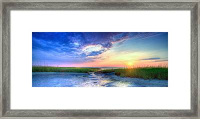 Rock Harbor Sunset Framed Print