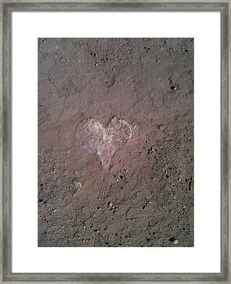Rock Heart Framed Print by Claudia Goodell