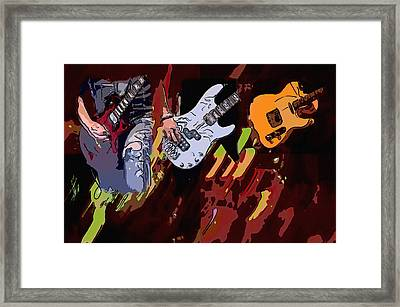 Rock Heroes Framed Print