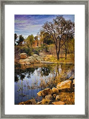 Rock House At Granite Dells Framed Print by Priscilla Burgers