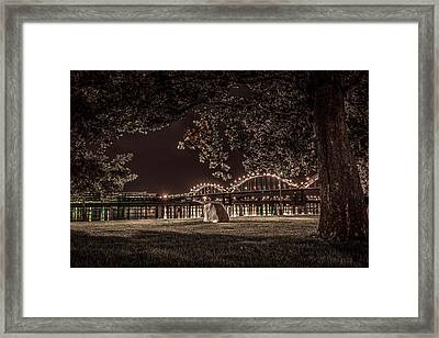 Framed Print featuring the photograph Rock In Leclaire Park by Ray Congrove